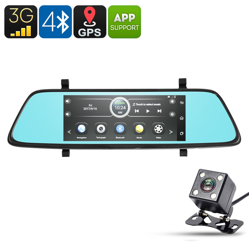 Wholesale E-CEROS 3G 1080p Android Car DVR Kit with GPS, 1080p Front Camera, Rearview Camera, 6.86 Inch Parking Monitor