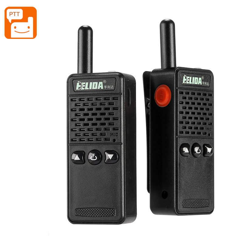 Wholesale ELIDA T-M2 Mini Walkie Talkie Set - 1KM Range, 16 Channels 430 To 470MHz, Noise Cancellation, 1200mAh Battery, PPT