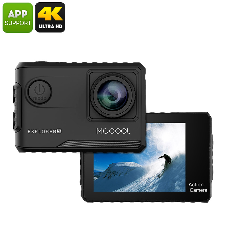 Wholesale Explorer 2C Action Camera (4K Recording, Wide Angle Lens, 2 Inch Touch Screen, Novatek Chipset)
