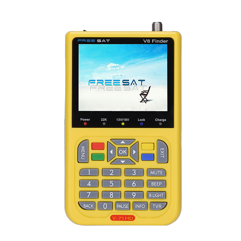 Wholesale Freesat V8 HD Satellite Finder for DVB/DVB-S/DVB-S2 (3.5 Inch Screen, 3000mAh, 6000 Channels, AV/HDMI Out)