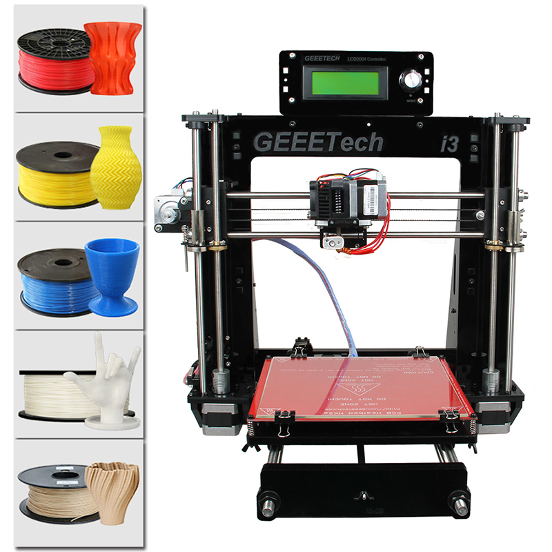 Wholesale Geeetech Acrylic I3 Pro B DIY 3D Printer (5 Filaments, Large Printing Volume, High Precision)