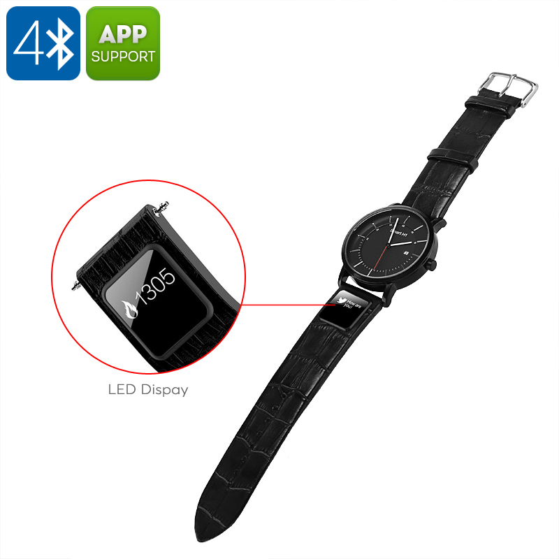 Wholesale H1 Bluetooth 4.0 Smart Sports Wrist Watch (Message + Call Reminder, Fitness Tracker, Leather Band)