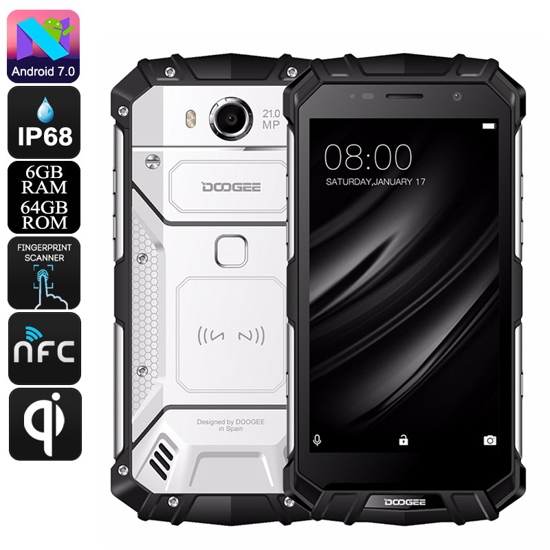 Wholesale HK Warehouse Doogee S60 Android Phone - Octa-Core, Android 7.0,