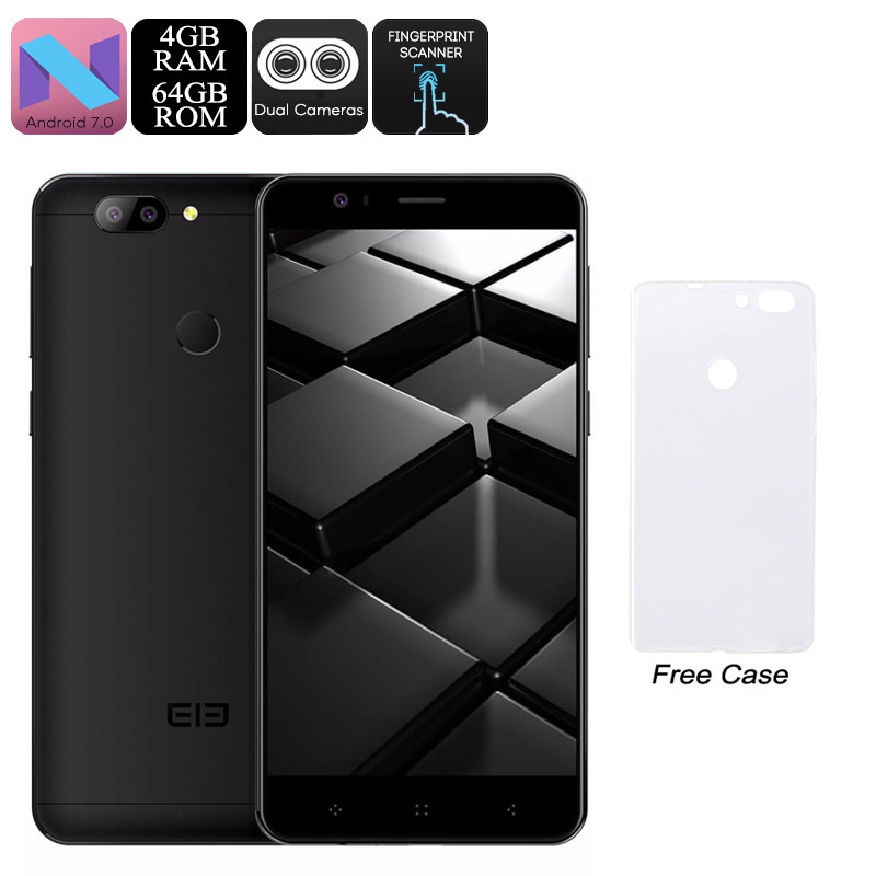 Wholesale HK Warehouse Elephone P8 Mini Android Phone - 5-Inch FHD, Octa-Core CPU, Android 7.0, 4GB RAM, 13MP Dual-Cam, Dual-IMEI (Black)