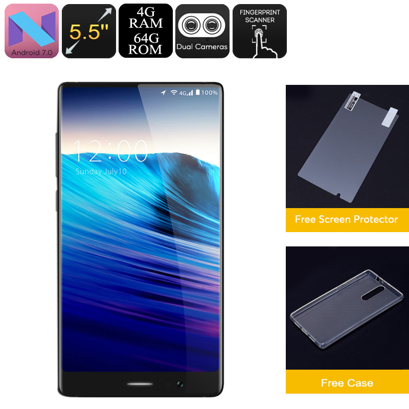 Wholesale HK Warehouse UMIDIGI Crystal Android Phone - Android 7.0, Octa-Core, 4GB RAM, 5.5-Inch FHD, Metal Body, 4G, Dual-IMEI