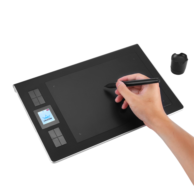 Wholesale Huion DWH69 Wireless Graphics Tablet with Rechargeable Stylus Pen for WIN / MAC (9x6 Inch, 5080LPI, 233RPS)