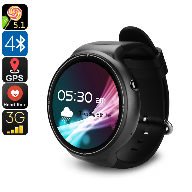Wholesale IQI I4 Pro 3G GPS Android Watch Phone (Bluetooth 4.0, WiFi, Pedometer, Heart Rate Monitor, Quad-Core CPU)