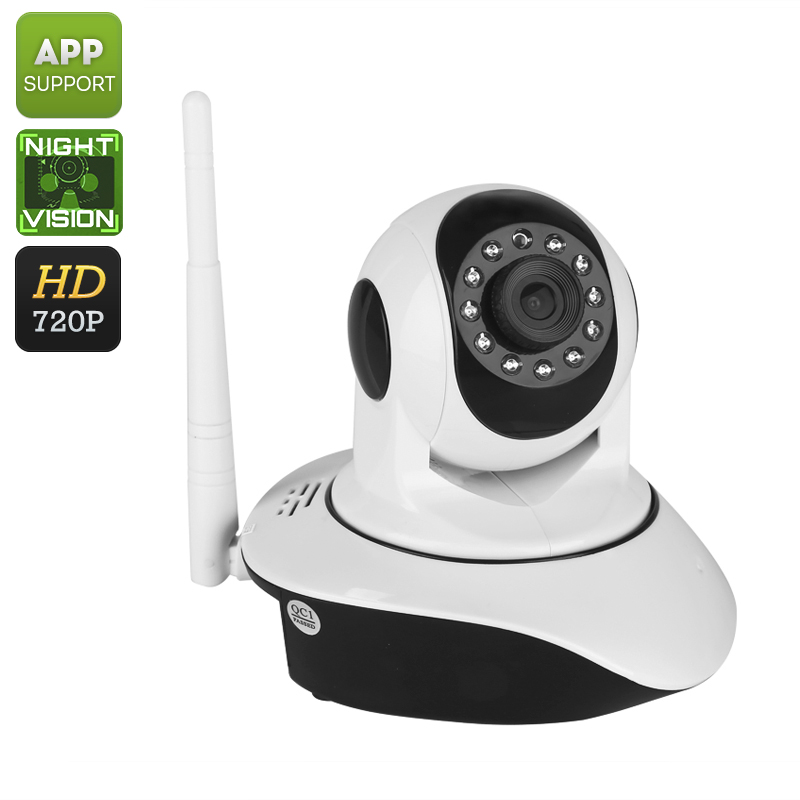 Wholesale Indoor PTZ WiFi Wireless HD IP Camera (720p, Two Way Audio, 1/4-Inch CMOS, 10m Night Vision, Motion Detection)