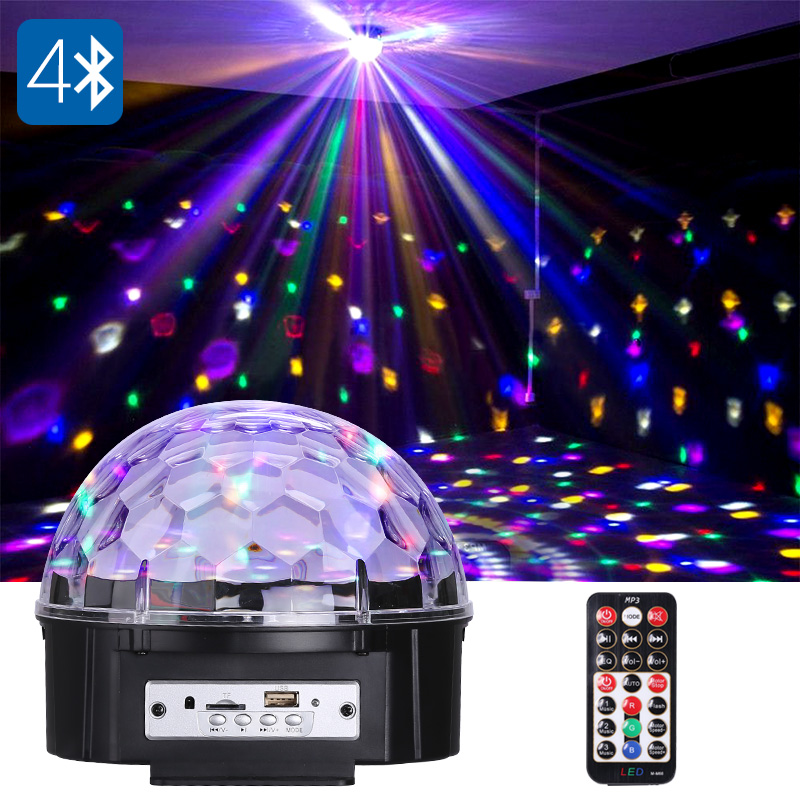 Wholesale LED Disco Light - RGB, 9 LED, Bluetooth Music Play, TF Card Slot, 18w, 120-Degree Light Angle, Different Lighting Modes