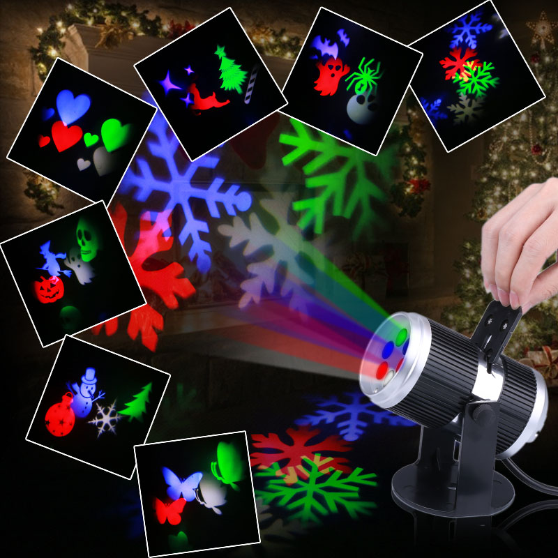Wholesale LED Light Projector - 4x LED, Rotating Design, 4 Color LEDs, 12 Light Patterns, Auto-Rotating Effect, Adjustable Image Size