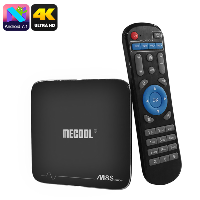 Wholesale MECOOL M8S Pro Android 7.1 Media TV Box (64Bit Quad-Core CPU, 4K