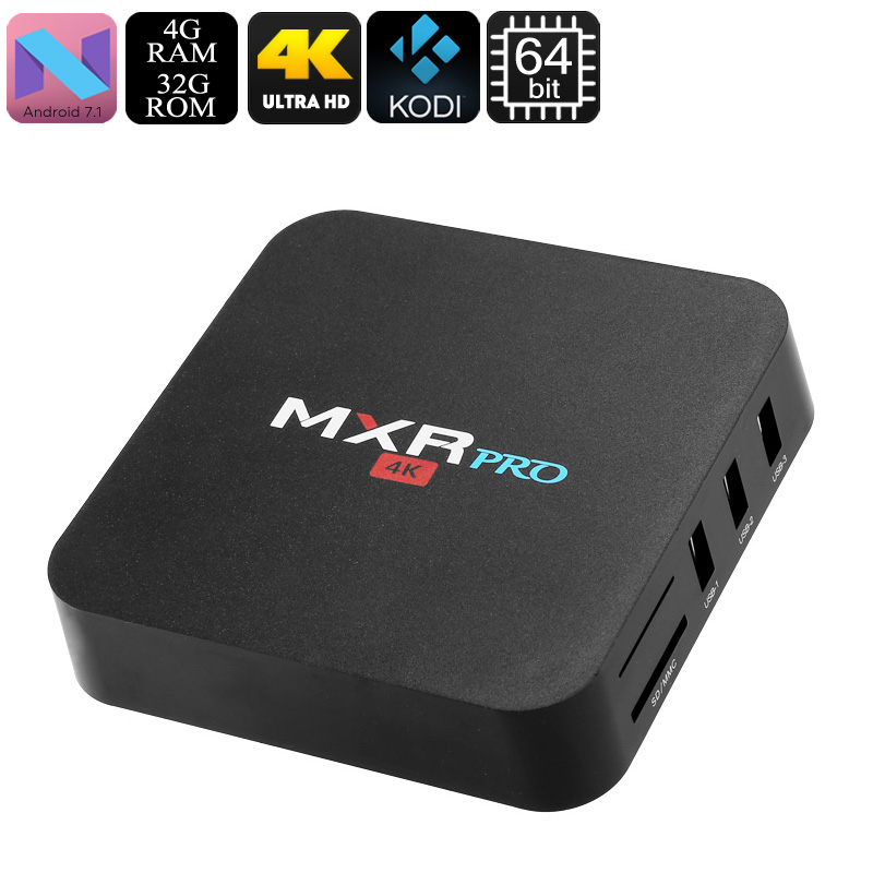 Wholesale MXR Pro 4K Android TV Box (WiFi, Quad-Core 64Bit CPU, Penta-Core