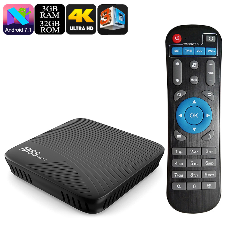 Wholesale Mecool M8S Pro L Android TV Box (4K, Octa Core CPU, Dual-Band WiFi, 3GB RAM, 32GB, Kodi/Airplay/Miracast/DLNA)