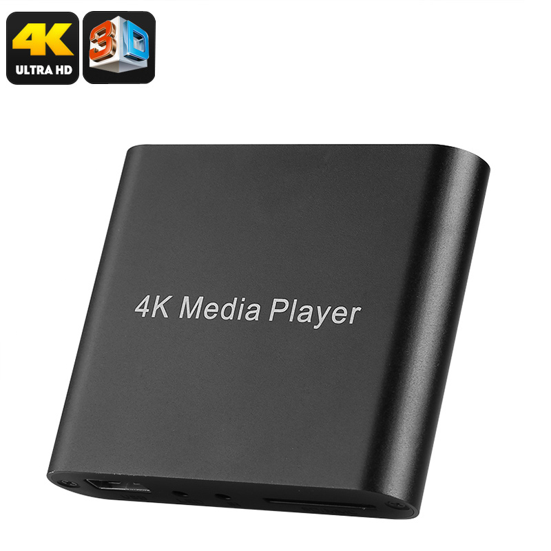 Wholesale Mini Ultra-HD 4K 3D TV Media Hub with USB, SD Card, HDMI, AV In