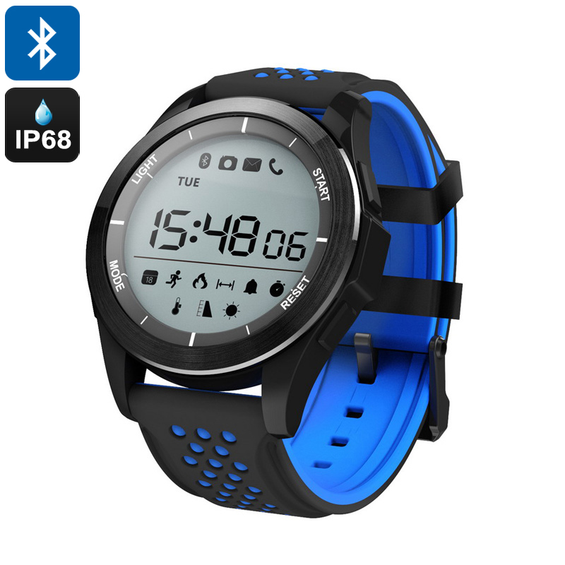 Wholesale NO.1 F3 1.1 Inch IP68 Waterproof Bluetooth 4.0 Sports Watch (Pedometer, Sleep Monitor, Sedentary Reminder, Blue)