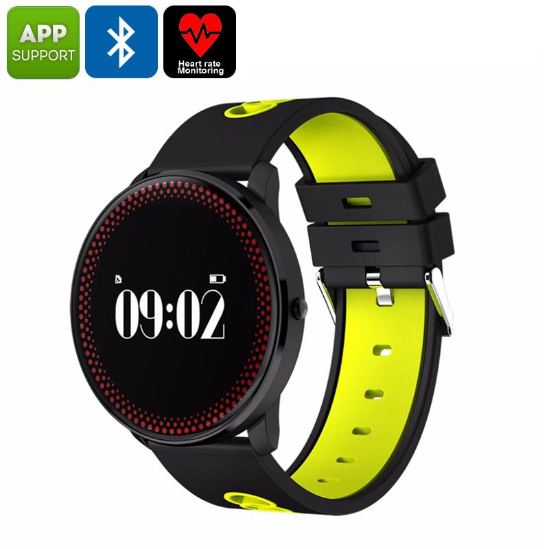 Wholesale ORDRO CF007 Bluetooth Watch - Blood Pressure, Heart Rate, Pedometer, Calories Burned, App Support, Bluetooth (Yellow)