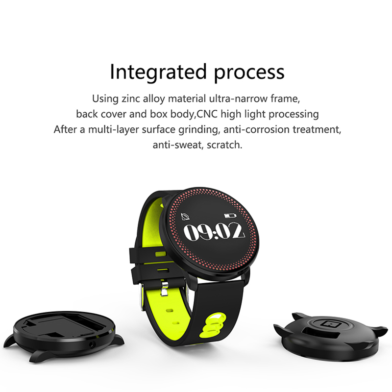 ORDRO CF007 Bluetooth Watch with Blood Pressure Monitor, Heart Rate Monitor, Pedometer - Yellow
