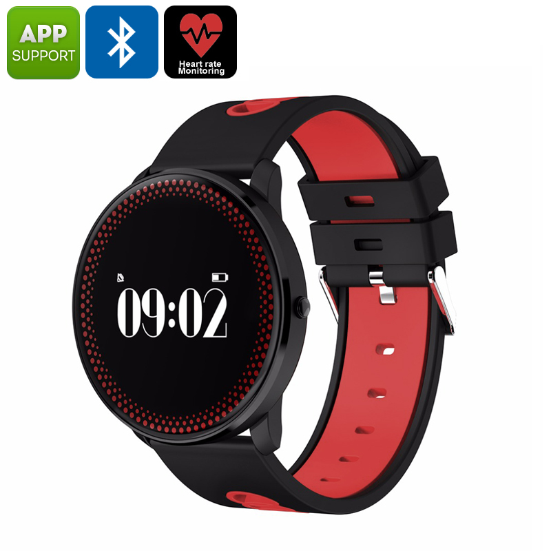 Wholesale ORDRO CF007 Bluetooth Watch (Heart Rate Monitor, Blood Pressure, Calories Burned, Pedometer, App Support, Bluetooth, Red)