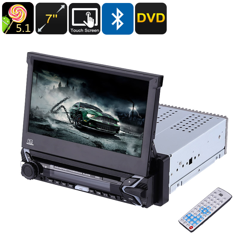 Wholesale One DIN Universal Android Car DVD Player with Detachable 7 Inch Touch Screen, GPS, Bluetooth, Remote Control