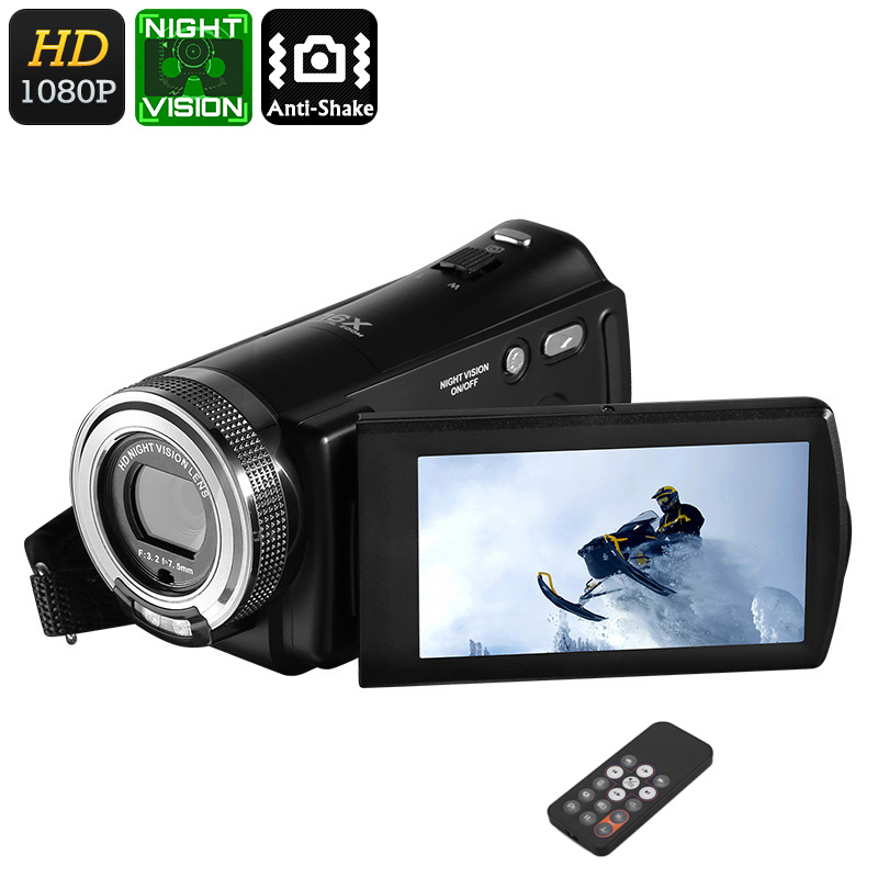 Wholesale Ordro V12 Full HD 1080p Digital Video Camera (20MP Picture, 1000mAh, 16x Zoom, 3 Inch Screen)