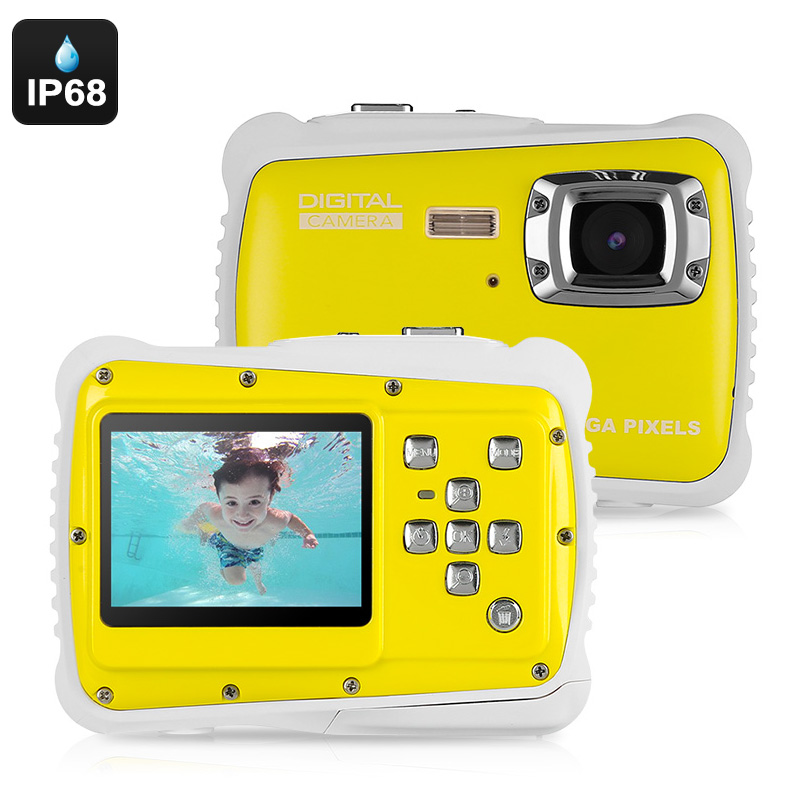 Wholesale Powpro Kfun PP-J52 Waterproof Underwater HD Video Camera for Kids (5MP, 2 Inch Screen, Yellow)