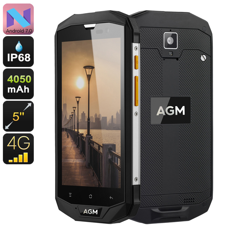 Wholesale AGM A8 SE Ultra-tough Rugged 4G Android Phone (IP68 Waterproof, Dual-IMEI, Quad-Core CPU, 2GB RAM, 1080p, 16GB)