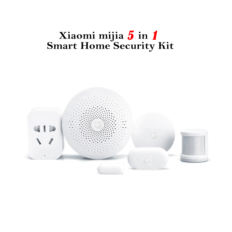 Wholesale Xiaomi - Smart Home Security Kit (Gateway, Window + Door Sensor, Smart Switch & Outlet, Human Body Sensor)