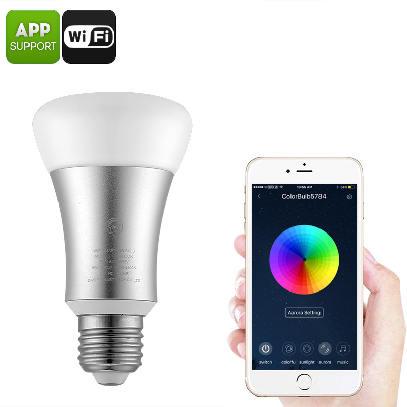Wholesale Smart WiFi LED Bulb - 16 Million Colors, 600 Lumens, WiFi, App Support, 30,000 Hours, E27 Base
