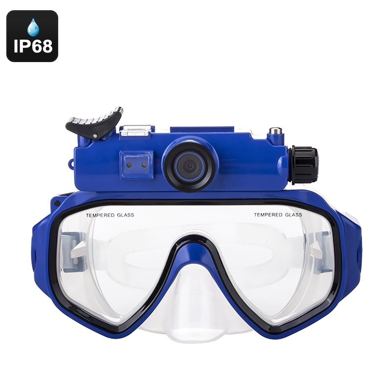 Wholesale Sports Camera Swim Goggles - IP68 Waterproof, 90-Degree Lens, 1/2.5 Inch CMOS, 5MP Pictures, 720p HD Video, SD Card Support
