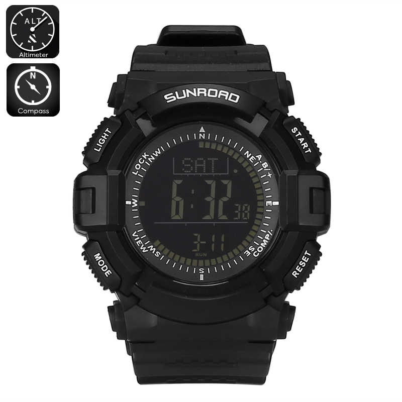 Wholesale Sunroad FR861 B Digital Sports Watch with Compass, Altimeter, Barometer, Pedometer, Calorie Counter