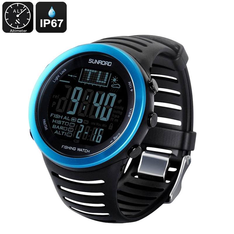 Wholesale Sunroad FR720 Waterproof Fishing Watch with Barometer, Altimeter, Thermometer