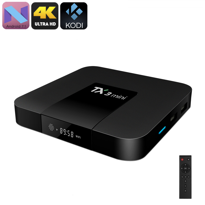 Wholesale Tanix TX3 Mini TV Box (Android 7.1, Bluetooth, WiFi, Google Play, Kodi TV, Quad-Core, 4K Support, DLNA)
