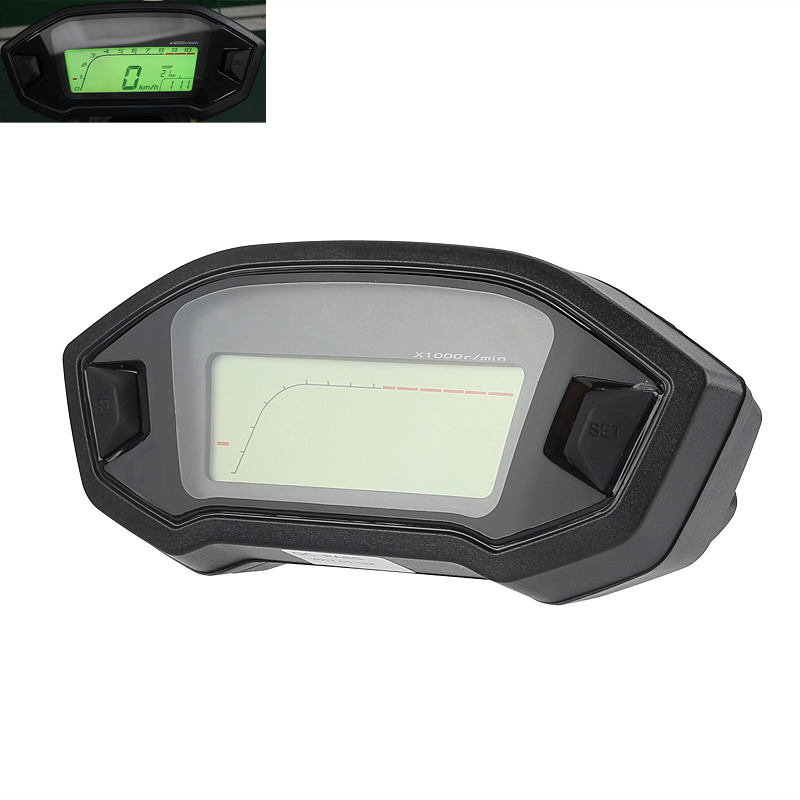 Wholesale Universal Digital Motorcycle Odometer (Mph And Km/h, 7 Color Backlight, Time, Gear, Speed, Distance Traveled)
