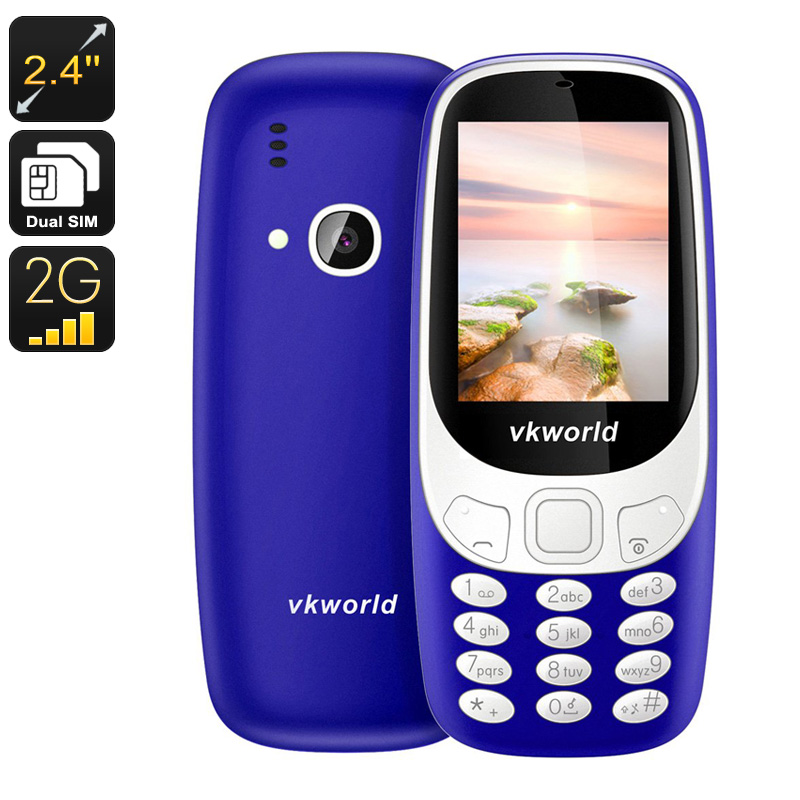 Wholesale VKWorld Z3310 Cell Phone - 2.4 Inch Display, Number Pad, Bluetooth, Dual-IMEI, 2MP Camera, 1450mAh