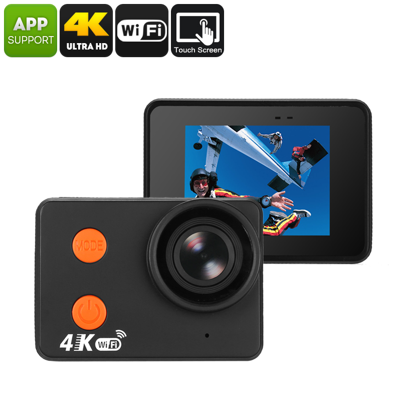 Wholesale 10M Waterproof 4K WiFi Sports Action Camera (Bare Metal Body, 4K 30FPS, 160-Degree Lens, 20MP CMOS, 2 Inch Display)