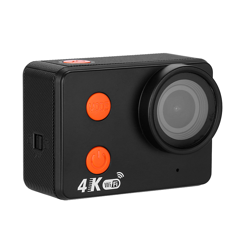 10M Waterproof 4K WiFi Sports Action Camera (Bare Metal Body, 4K 30FPS, 160-Degree Lens, 20MP CMOS, 2 Inch Display)