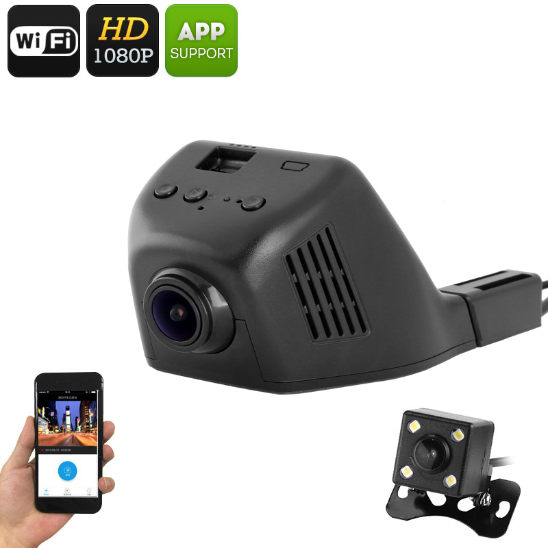 Wholesale WiFi Car DVR (1080p Video, 170-Degree Lens, App Support, G Sensor, Built-In Microphone, WiFi)