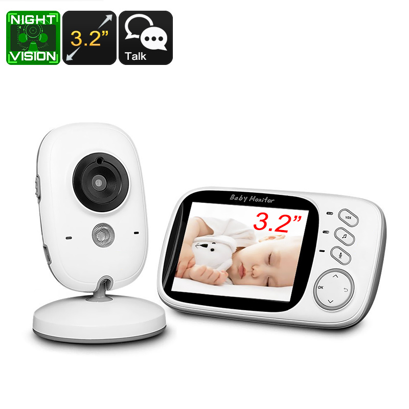 Wholesale Two Way Audio 2.4GHz Wireless Baby Monitor (3.2 Inch Screen, Temperature Monitor, Play Songs, 5M Night Vision)