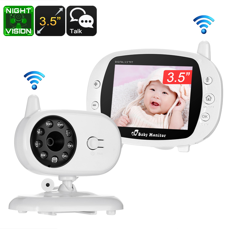 Wholesale Two Way Audio Wireless Baby Monitor with 3.5 Inch Screen (3M Night Vision, Temperature Monitor, Play Songs)