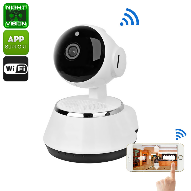 Wholesale 1/4 Inch CMOS 720p HD PTZ WiFi Wireless IP Camera (SD Card Recording, Night Vision, Motion Detection)