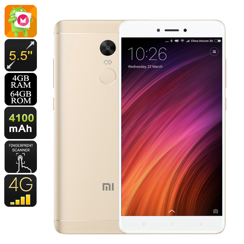 Wholesale Xiaomi Redmi Note 4X 5.5-Inch Deca-Core 4G Android Phone (4GB RAM, Dual-Band WiFi, Dual-IMEI, Gold)