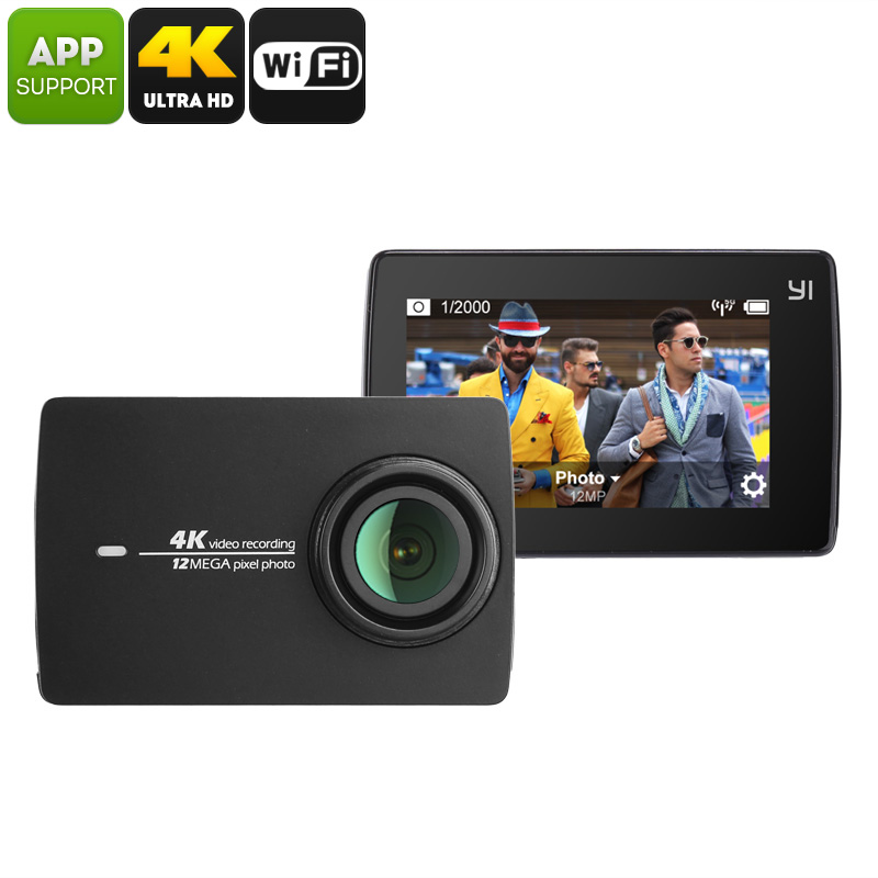 Wholesale YI II International Version Sports Camera - 4K Video, Ambarella A9SE Chipset, 1/2.3-Inch 12MP CMOS Sensor, WiFi, 155-Degree Lens