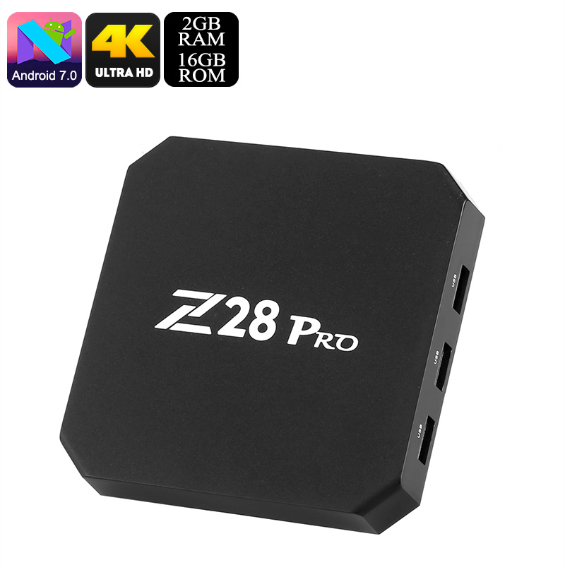 Wholesale Z28 Pro 4K Android 7.1 TV Box (WiFi, Bluetooth, Kodi, Quad-Core