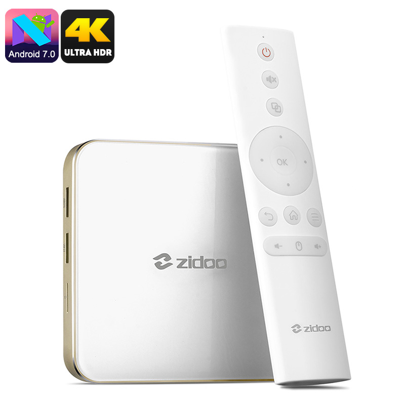 Wholesale Zidoo H6 Pro 10Bit Color Android TV Box (4K, 2GB DDR4, Quad Core CPU, HDR)