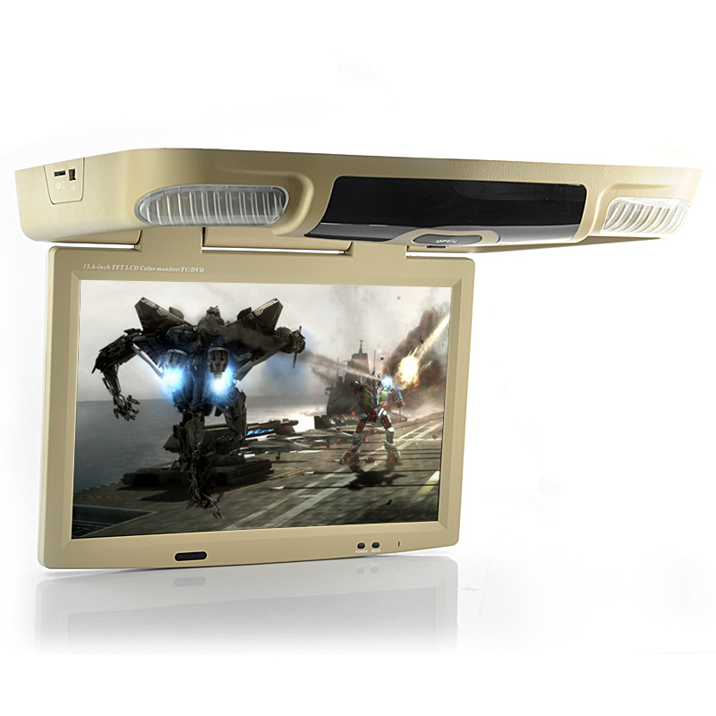 Wholesale 15.6 Inch Flip Down Car Roof Mount Monitor with DVD Player (1440x900, DIVX, TV)
