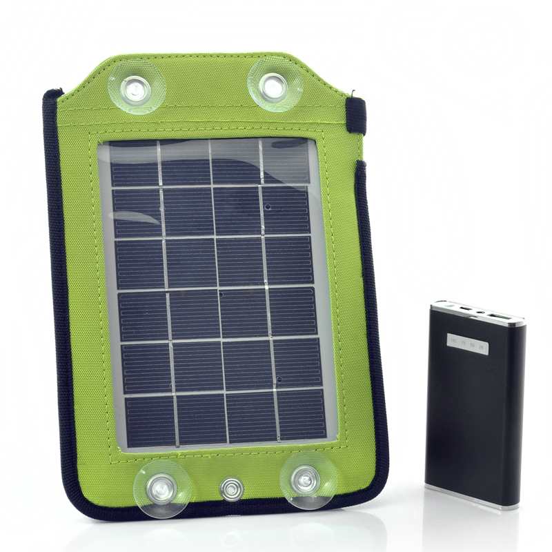 Wholesale Portable Solar Panel Charger with Backup Battery (4600mAh, 2.5W, 4 Adapters)