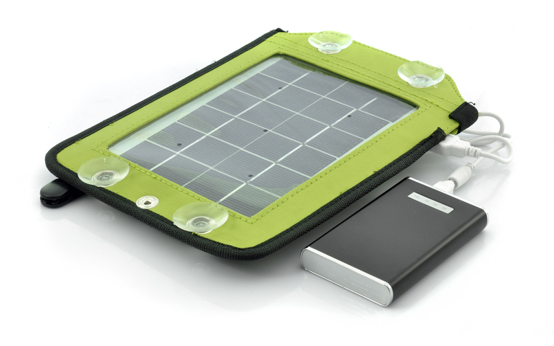 Portable Solar Panel Charger With Backup Battery 4600mah