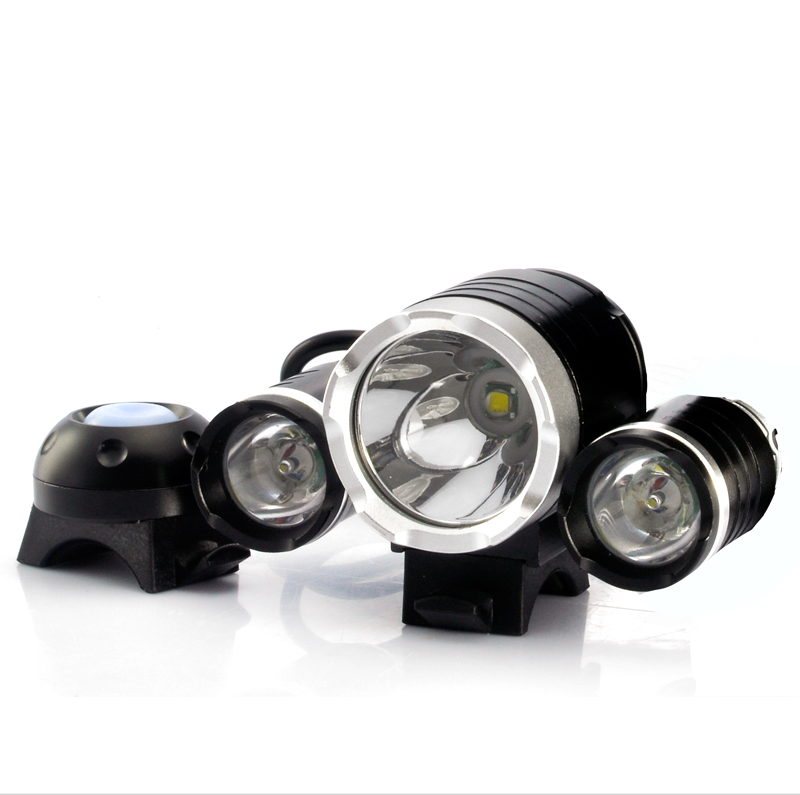 Wholesale CREE T6 LED Bicycle Headlight and Headlamp (3000 Lumens, 4400mAh)