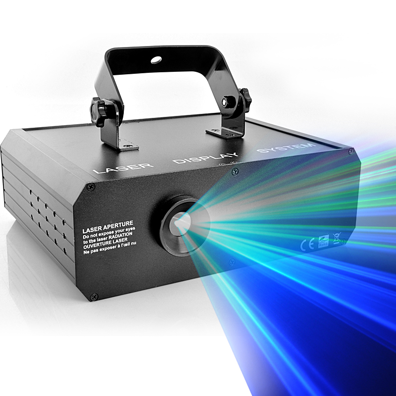 Sound Actived RGB 3D Laser Projector with Full Color Animation (500mW, DMX link)