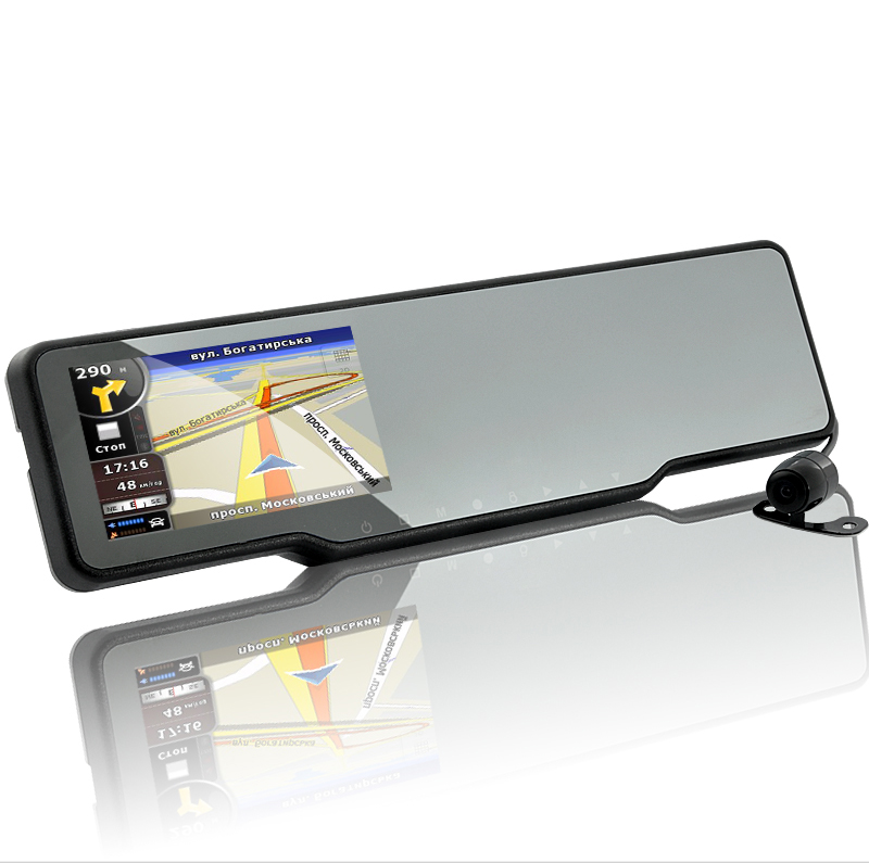 Bluetooth Car Rearview Mirror Kit Dash Cam Gps